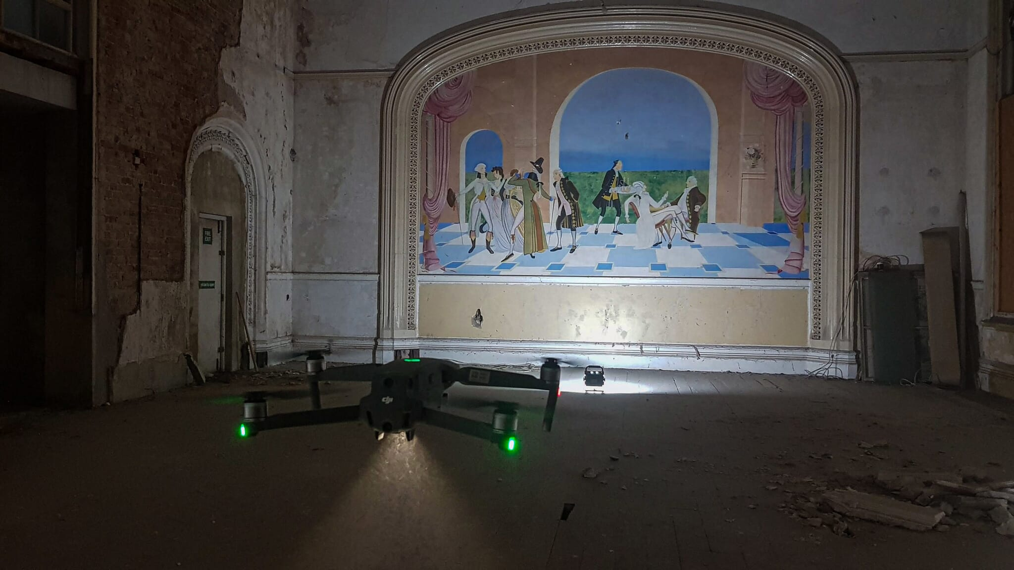 Mavic 2 drone flying indoors